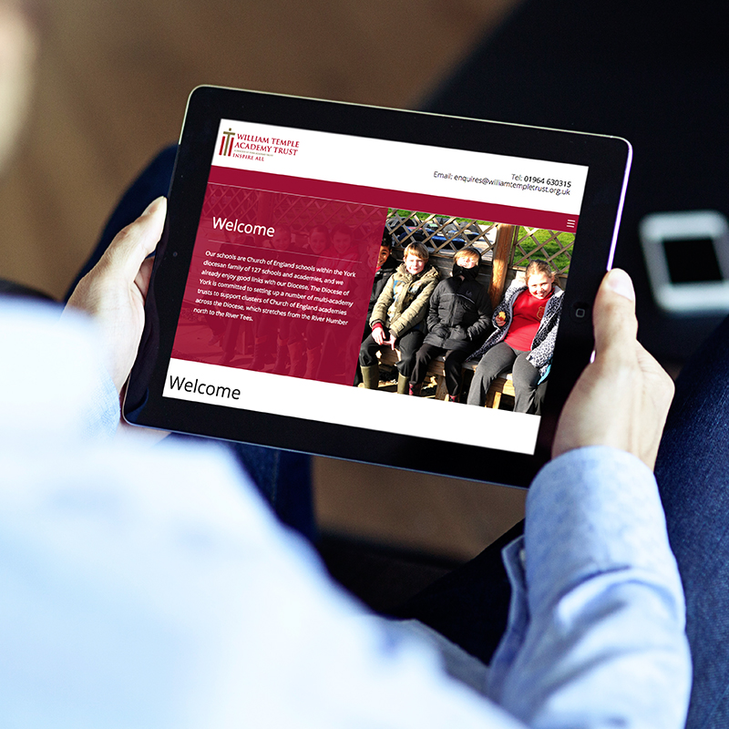 William Temple Trust Website Design