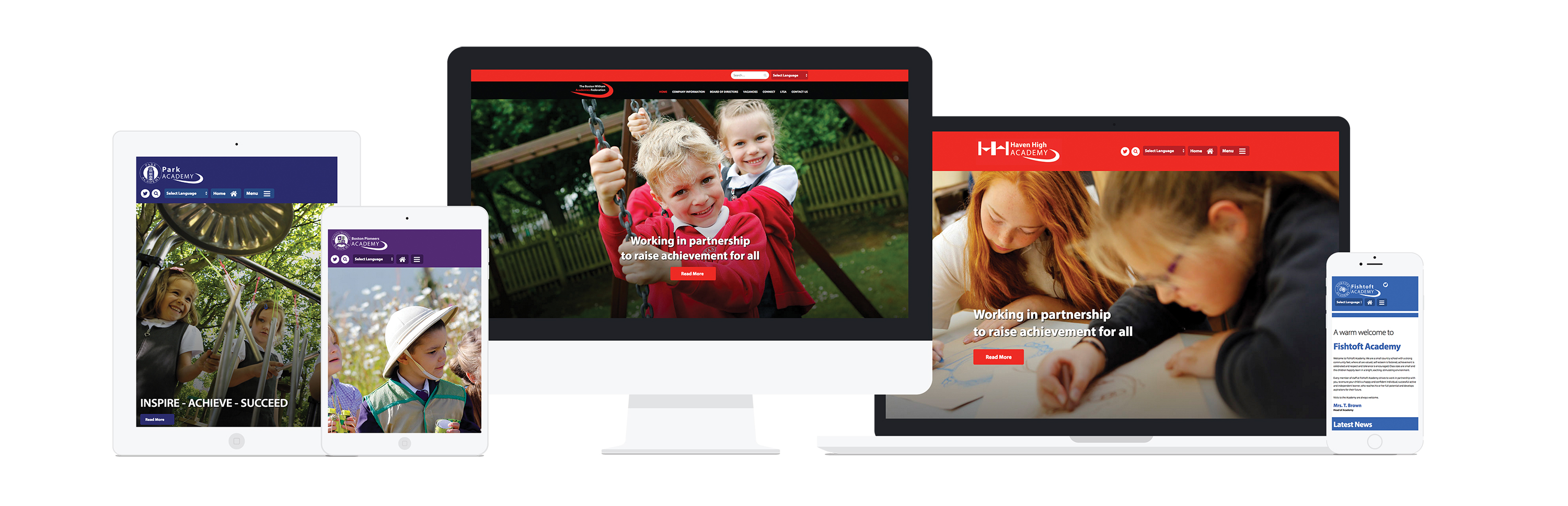 School Website Responsive Design